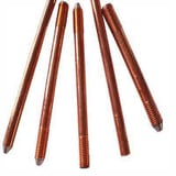 Solid copper earth rods