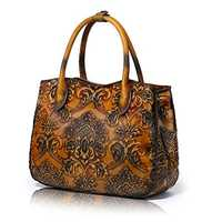 Leather embossed bag