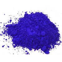 Pumped blue dye