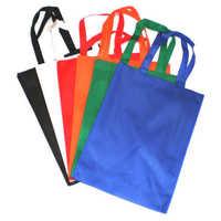 Colored woven sacks