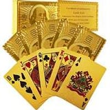 Gold playing cards