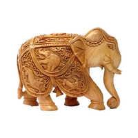 Wooden Inlaid Elephant