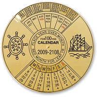 Brass calendar