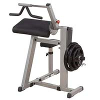 Bicep curl machine