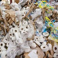 Waste paper rolls