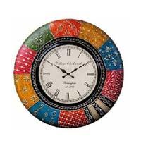 Painted wall clock