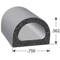 Foam rubber seals