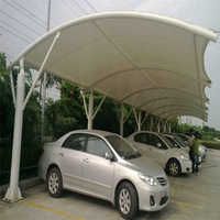 Polycarbonate car shed