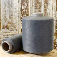 Polyester grey yarn