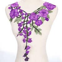 Embroidered neckline