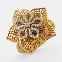 Diamond studded gold jewelry