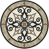Marble floor medallion