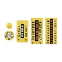 Temperature indicator labels
