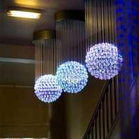 Fiber optic chandelier
