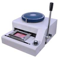 Pvc card embossing machine