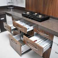 Modular kitchen shelves