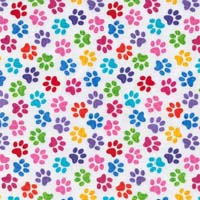 Printed polar fleece fabric