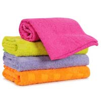 Colored bath towel