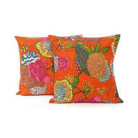 Kantha cushion cover