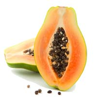 Frozen papaya