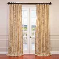Embroidered taffeta curtain