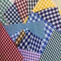 Check Silk Fabric