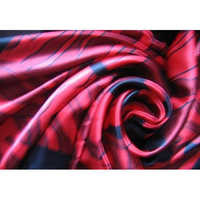 Printed silk satin