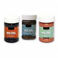 Reactive metallic paint