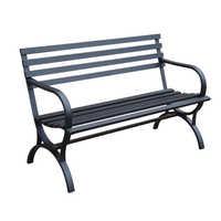 Iron park benches