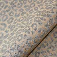 Printed flock fabric