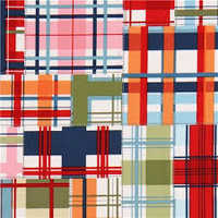 Checked patchwork fabric