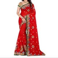Kundan work saree