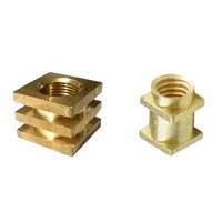 Brass square insert