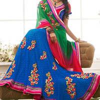 Embroidered lehenga sarees