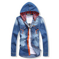 Men hooded shirts