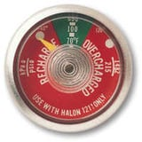 Fire extinguisher pressure gauge