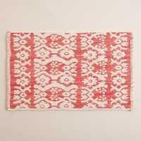 Woven bath mats