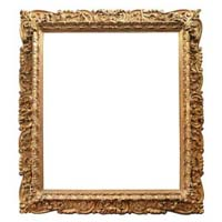 Carved wood frame