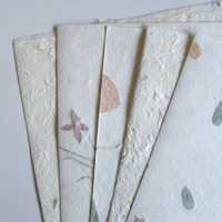 Handmade floral paper