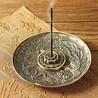 Incense burner plate