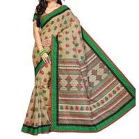 Jute cotton saree