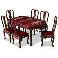 Carved dining set