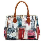 Printed leather bags