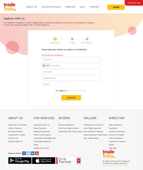 Register at Tradeindia